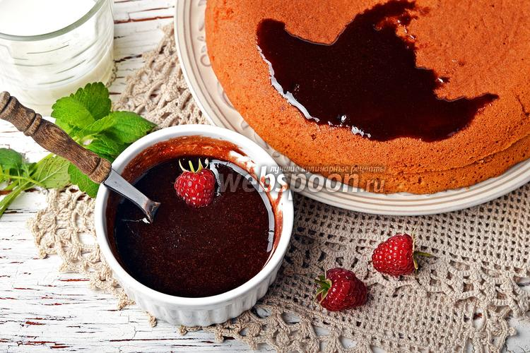 Фото Шоколадная глазурь из какао и молока