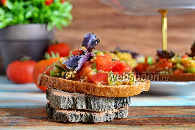 Фото Гренки с овощами