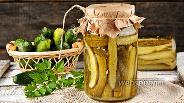 Фото рецепта Огурцы в горчичной заливке на зиму