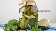 Фото рецепта Огурцы маринованные с капустой