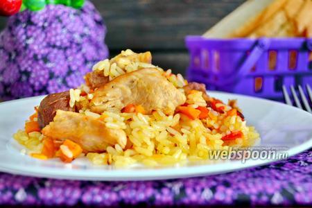 Жаркое из риса в горшочках