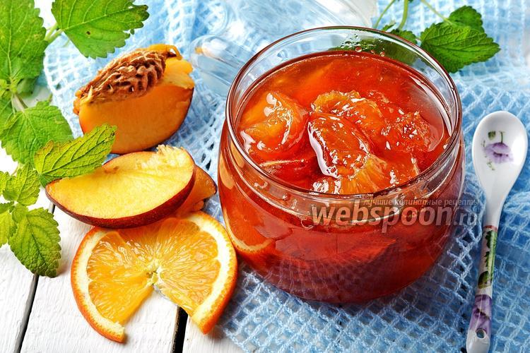 Фото Варенье из нектаринов с апельсинами