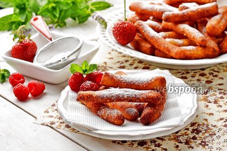 Фото рецепта Творожные палочки жареные в масле