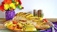 Фото рецепта Карась в духовке с картошкой