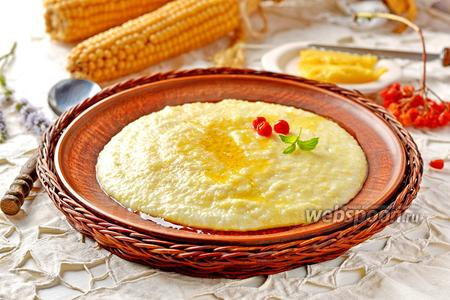 Фото рецепта Кукурузная каша на молоке