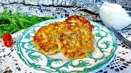 Фото рецепта Оладьи из кабачков с грибами