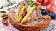 Фото рецепта Шарлотка с яблоками и сливами
