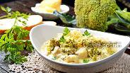 Фото рецепта Курица с брокколи в сливочном соусе