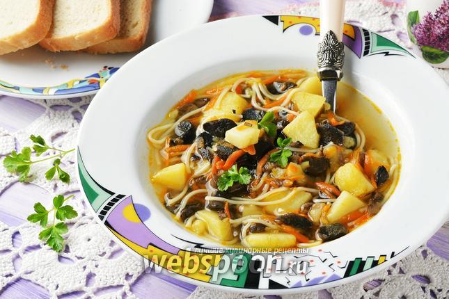 Фото Грибной суп с макаронами