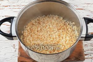 Пока мы готовили овощи, рис тоже приготовился.