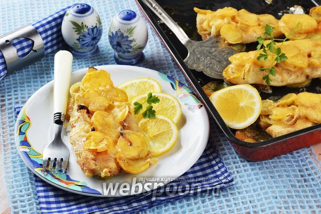Фото Хек с картошкой в духовке