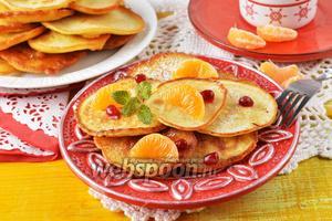 Оладьи с мандаринами