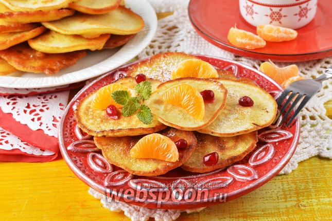 Фото Оладьи с мандаринами
