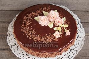 Черёмуховый торт готов. Приятного аппетита!!!
