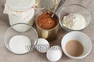 Основные ингредиенты, которые потребуются для приготовления крема: молоко, варёное сгущённое молоко, сахарный песок, мука пшеничная, желток куриный, ликёр «Бейлис».