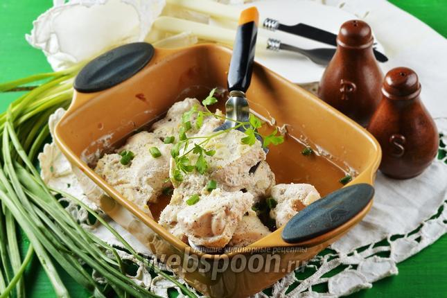 Фото Куриное филе в кефире в духовке