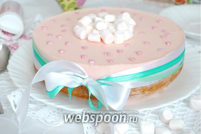 Фото Лимонный торт с маршмеллоу