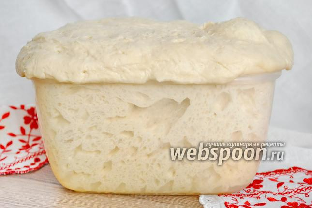 Фото Воздушное тесто для багетов