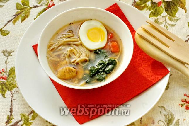 Фото Японский суп с гречневой лапшой