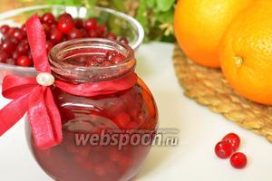 Варенье из брусники с апельсином