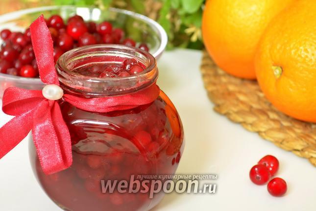 Фото Варенье из брусники с апельсином