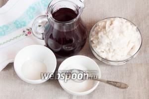 Ингредиенты, которые потребуются для приготовления крем-чиза: сок вишнёвый, тофу, ванилин, сахарный песок и агар-агар.
