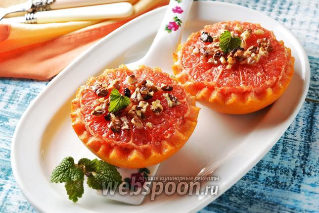 Фото Запечённый грейпфрут