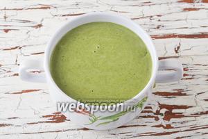 Суп-крем из шпината готов.