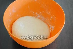 Готовое тесто положить в миску, накрыть плёнкой и оставить на 30 минут отдохнуть. За это время подготовим фарш.