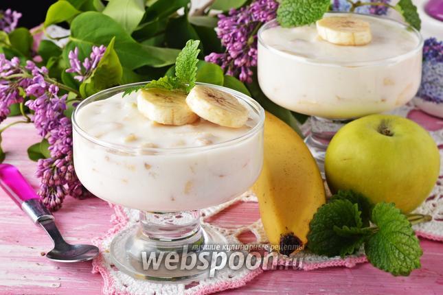 Фото Сметанное желе с фруктами