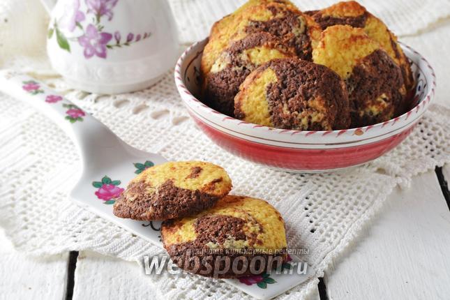 Фото Мраморное печенье