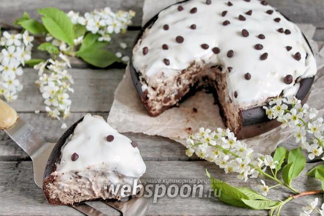 Фото Черёмуховый пирог со сметаной