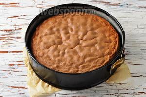 Выпекать пирог в предварительно разогретой до 180°С духовке до готовности (до сухой лучинки) приблизительно 30 минут. Вынуть пирог из духовки, полностью охладить. Перед подачей посыпать пирог сверху сахарной пудрой и нарезать на небольшие кусочки.