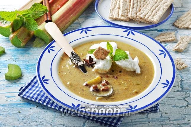Фото Суп из ревеня с яйцом