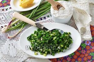 Начинка для пирожков с зелёным луком