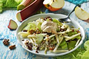 Салат из ревеня с яблоком