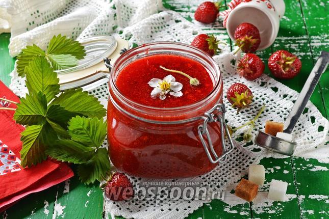 Фото Клубничное варенье без варки ягод