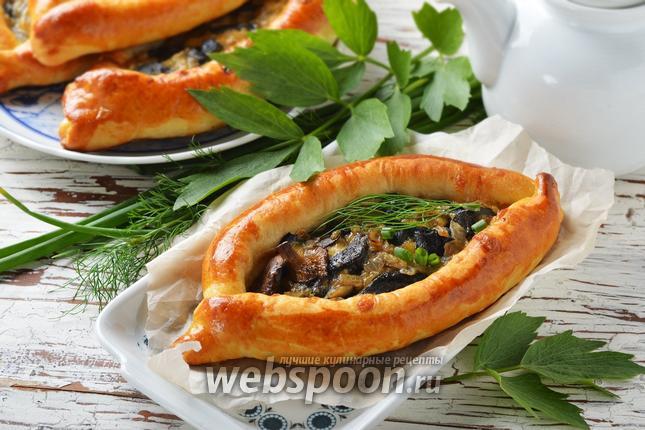 Фото Пирожки-лодочки с сырно-грибной начинкой