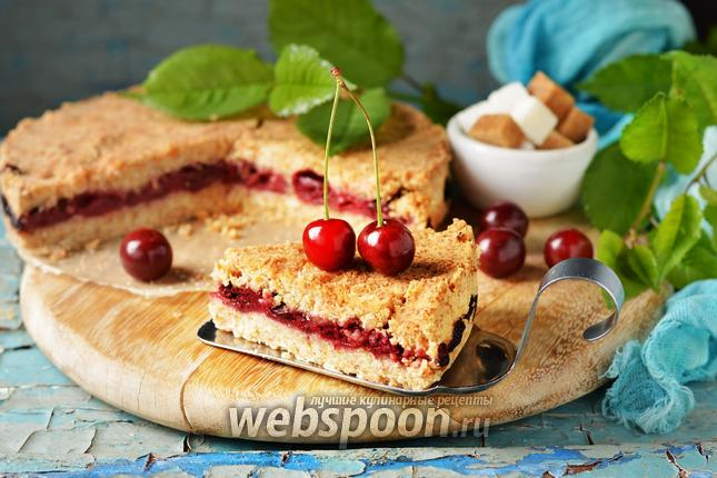 Фото Насыпной пирог с вишней