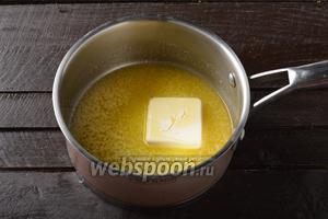 100 граммов сливочного масла растопить и охладить.
