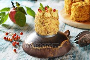Бисквитно-кремовое пирожное