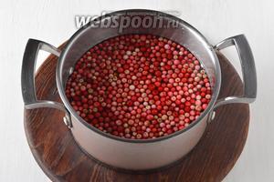 Бруснику (200 г) перебрать, удалить испорченные ягоды, хорошо промыть. Если у вас очень много ягод, то их можно просто заморозить либо высушить.