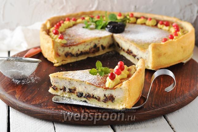 Фото Пирог с черносливом и сметаной