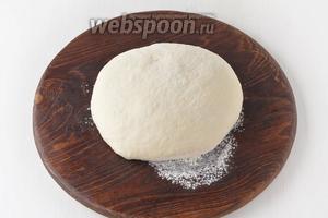 Замесить тесто, накрыть слегка влажным полотенцем (в миске) и оставить в тёплом месте на 1 час.