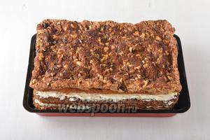 Шоколадно-ореховый торт готов.