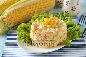 Салат из свежей кукурузы