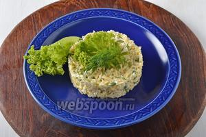 Салат готов к подаче.