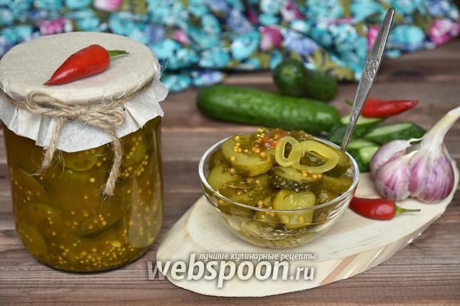 Фото Пряный салат из огурцов на зиму