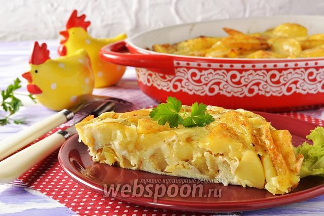 Фото Картошка с яйцом в духовке
