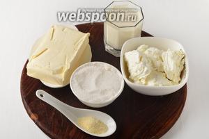 Для работы нам понадобится творог, молоко, сахар, сливочное масло, быстрорастворимый желатин.